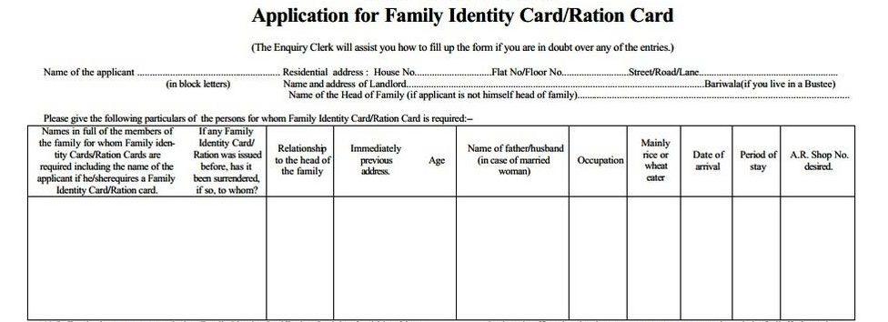 BPL Ration Card