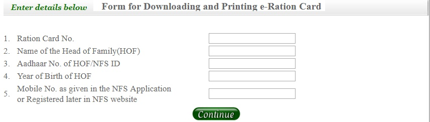 e-Ration Card Download