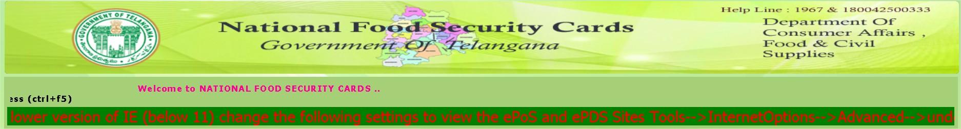 Food Security In Telangana