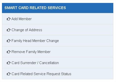 Ration Card Tamilnadu Address Change