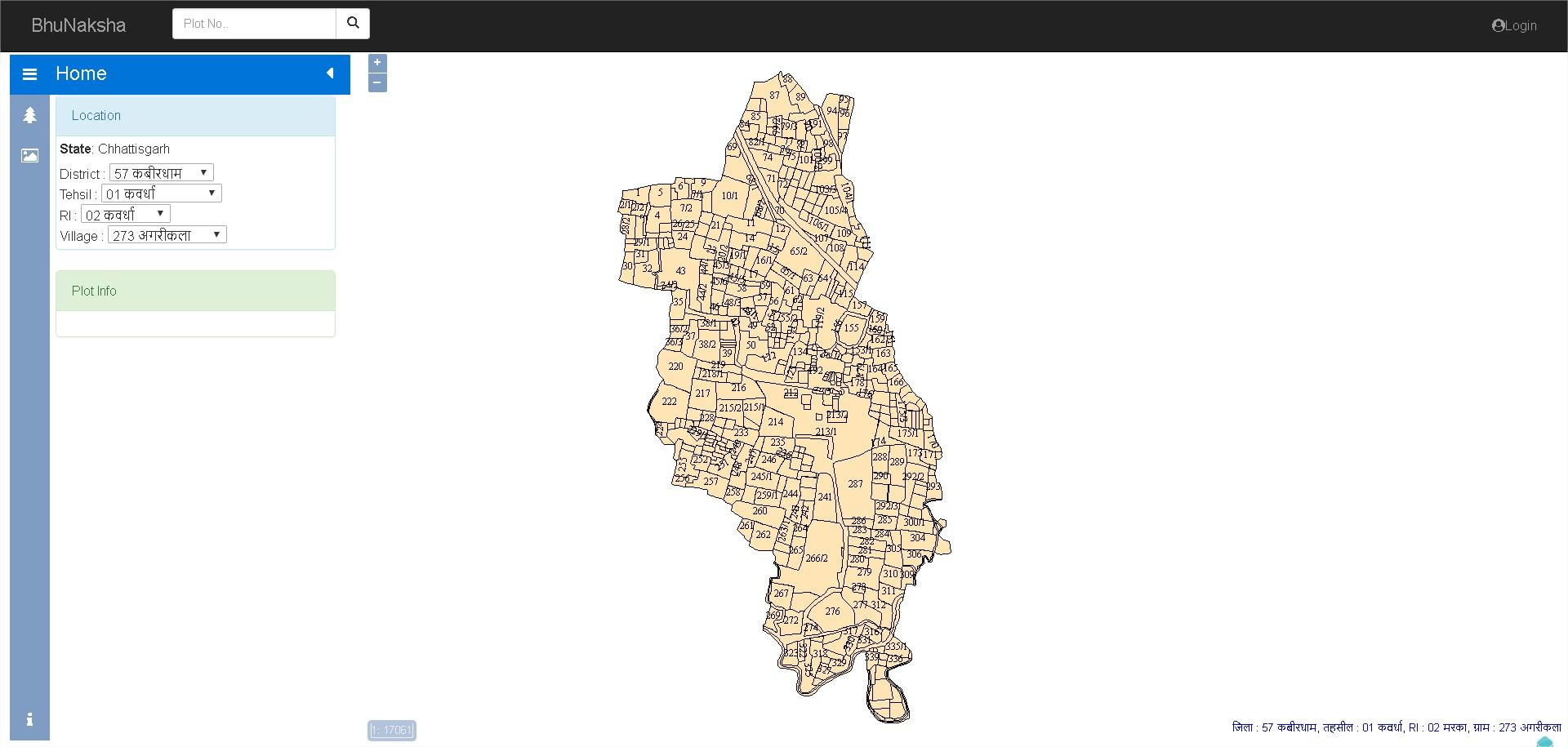 BhuNaksha CG Map Random