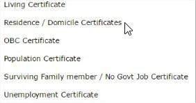 Online Domicile Certificate