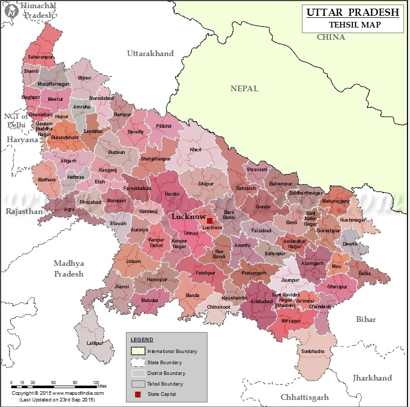 UP Bhunaksha Tehsil Map