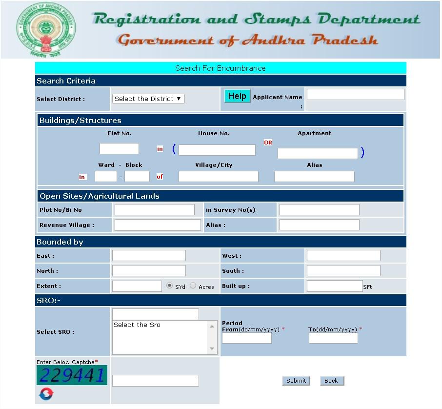 Encumbrance Certificate AP None