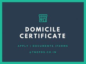 Domicile Certificate