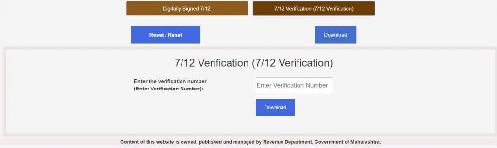 7/12 Verification Satbara Utara
