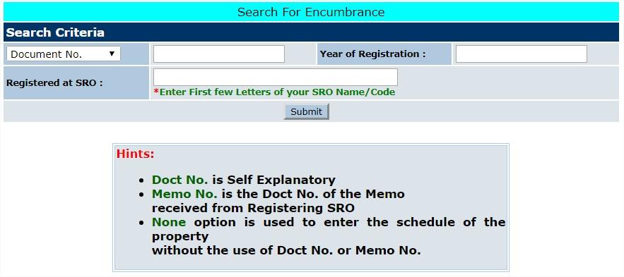 Encumbrance Certificate Telangana